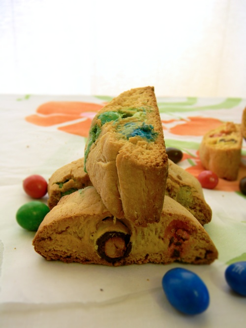 peanut butter and M biscotti | Desserts & Sweets | Pinterest