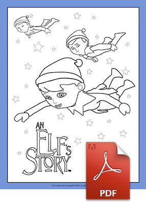 Scout Elves Flying Coloring Page | Elf on the Shelf | Pinterest