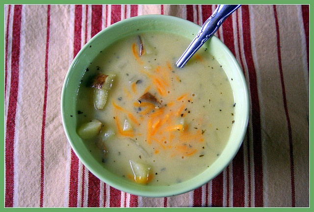 Baked potato soup with cheddar... | Soups | Pinterest