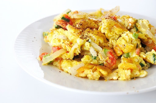 Spicy Scrambled Eggs | Healthy Breakfast Recipes | Pinterest