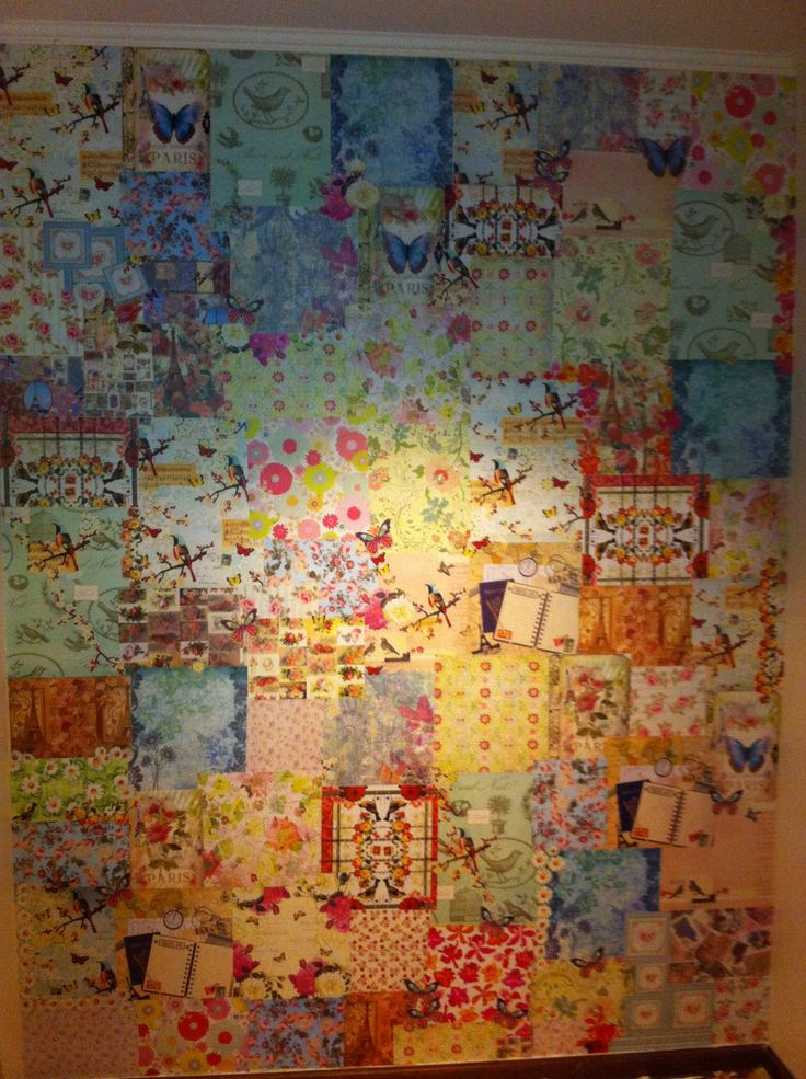 Decoupage Wall Paperwall Pinterest