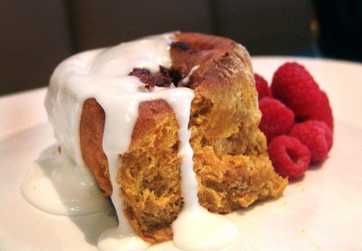 Pumpkin Ale Cinnamon Roll Recipe With butterscotch cream cheese ...
