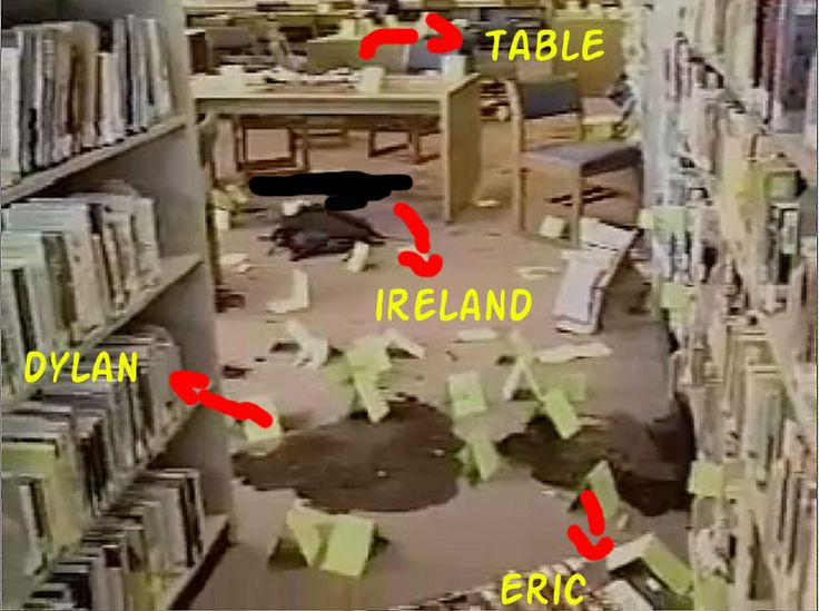 Columbine Shooting Pictures afterwards in Library minus bodies ...