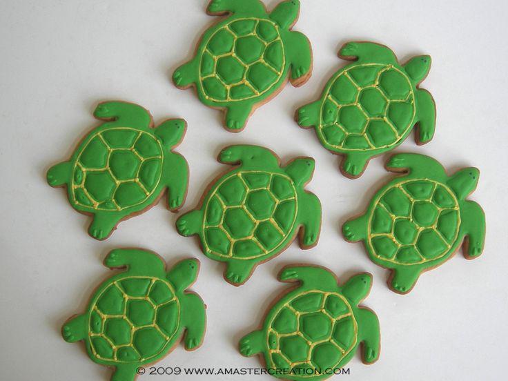 Swimming turtle cookies. | Little People ♥ Parties | Pinterest