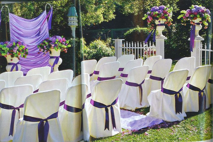 backyard wedding ideas, purple lavender and green wedding colors