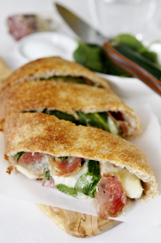 Salami and Spinach Stromboli | Recipe