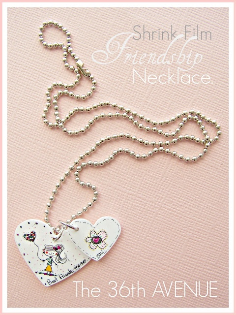 DIY friendship necklaces from shrink film.