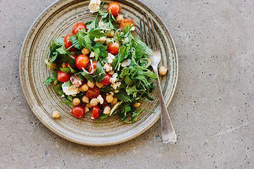 ... feta salad with pomegranate molasses dressing by My Darling Lemon