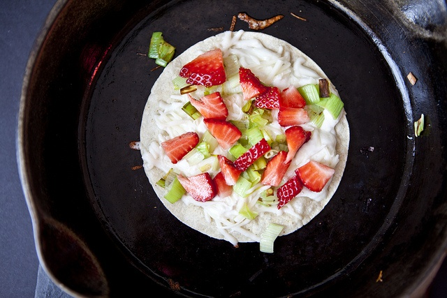 Strawberry, leek and goat cheese quesadilla. Sweetsonian.com