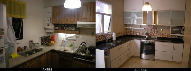 Remodelacion de cocina remodelacion pinterest for Remodelacion de cocinas pequenas