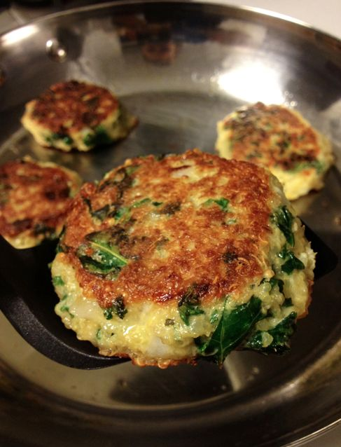 quinoa kale cakes | Verduras | Pinterest