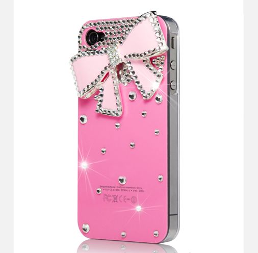 Case Design cute 4s phone cases : ... Cute BOW Bling Diamond Crystal Case Cover for Apple iPhone 4 4S
