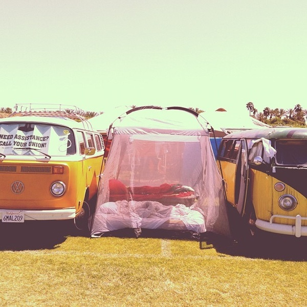 Camping in style. @Foam Magazine music-festival-style