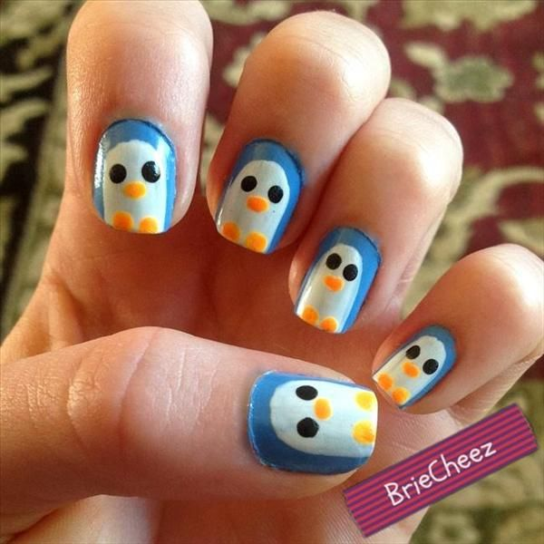 Penguin Nail Art Designs