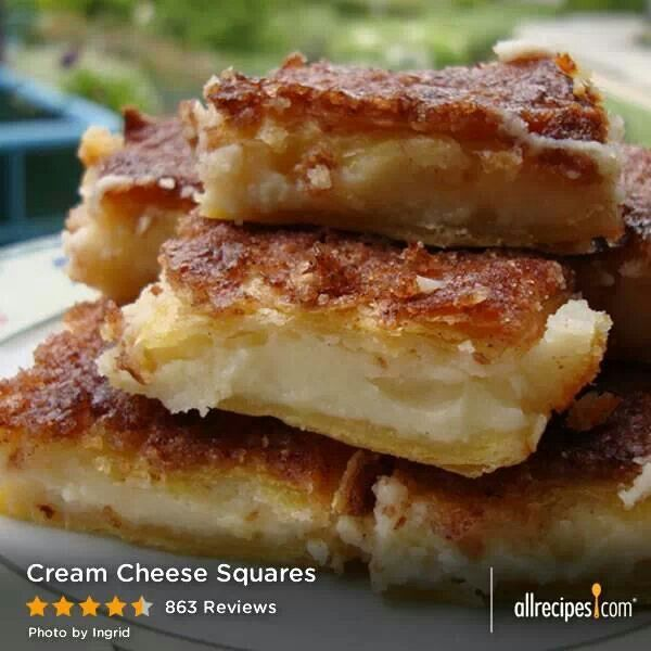 Cream cheese bars | Bars and Squares | Pinterest