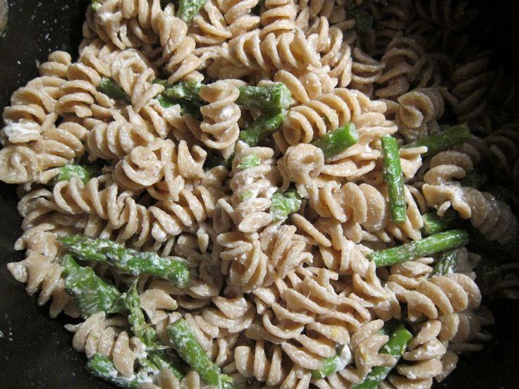 Asparagus, Goat Cheese And Lemon Pasta Recipe — Dishmaps