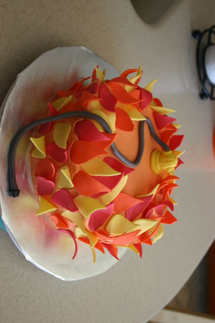 Fire / flame cake #fondant | Cakes and Cupcakes | Pinterest