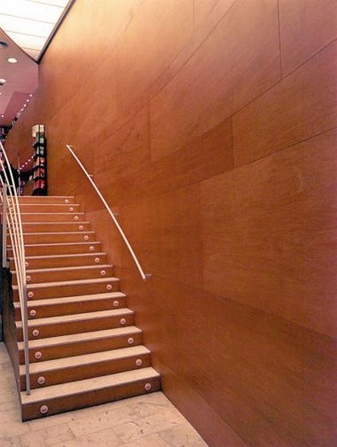 Plywood walls interiors pinterest for Plywood wall sheathing