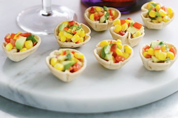 Mini Tortilla Cups With Corn Salsa Recipe -use fresh steamed corn and ...