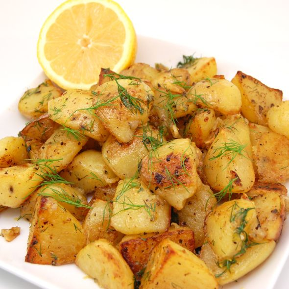 Roasted Greek Potatoes With Feta Cheese And Lemon Recipe ...