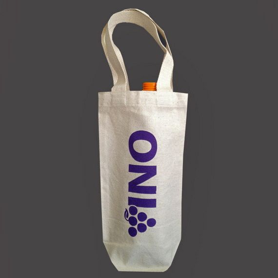 Recycled Cotton Canvas Wine Bag - Grape Vino Purple
