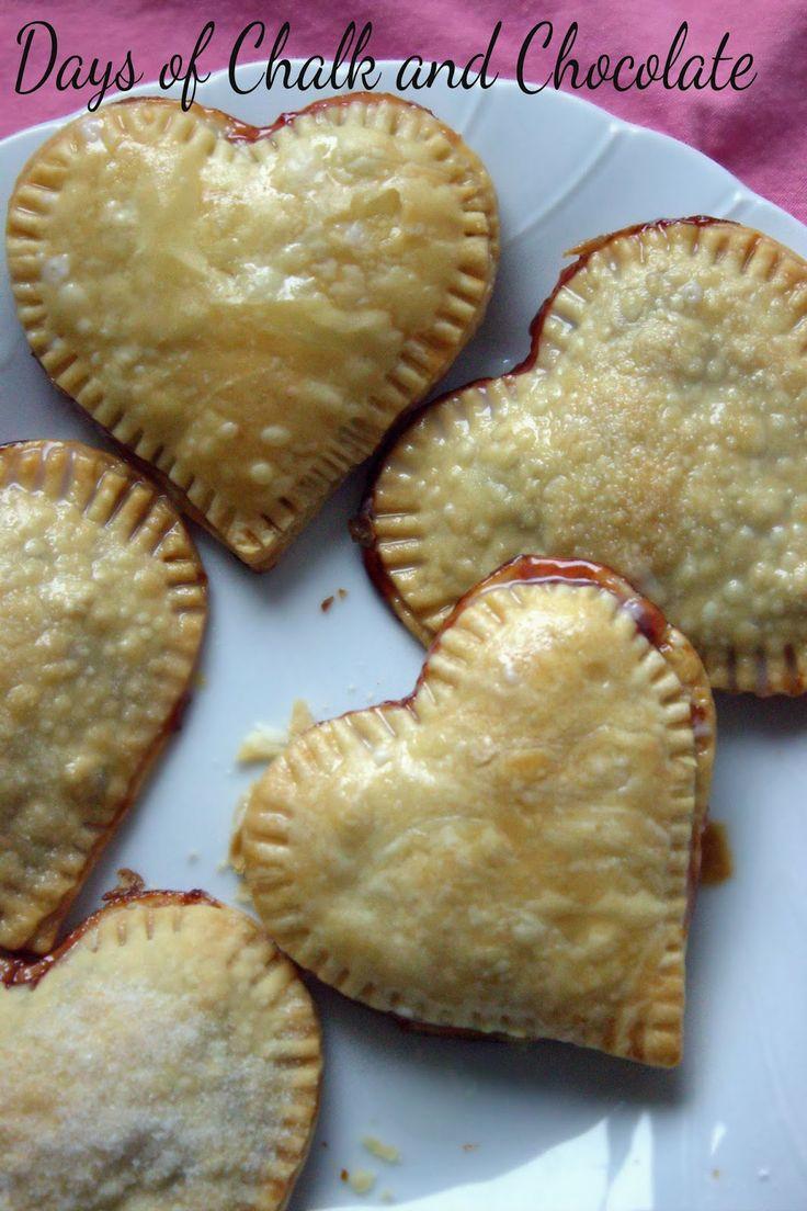 Days of Chalk and Chocolate: Strawberry Chocolate Hand Pies (Valentine ...