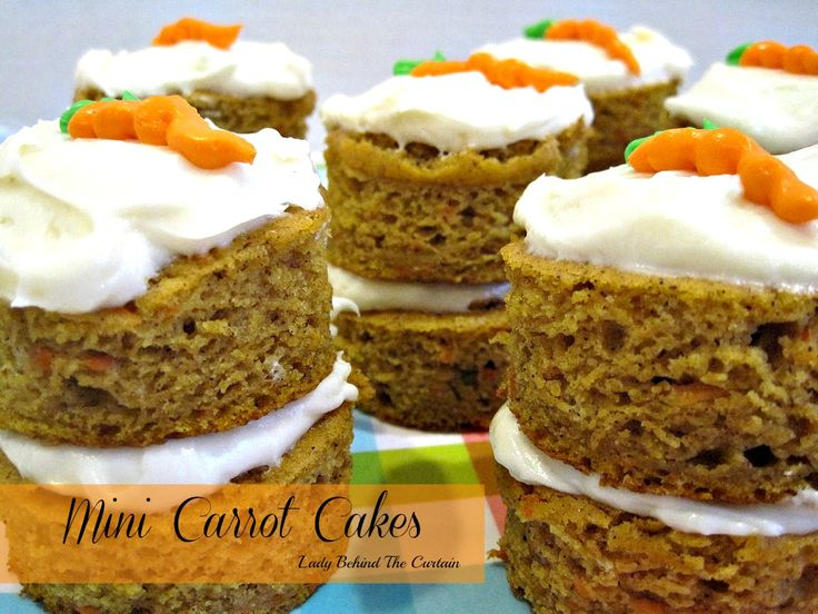 Lady Behind the Curtain » Mini Carrot Cakes