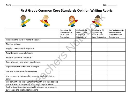 common core standards for writing
