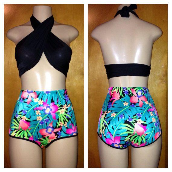 high waisted bikini shorts - photo #25