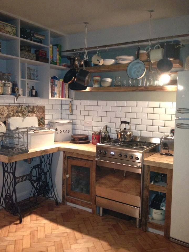 Mismatched Kitchen Small Spaces Pinterest