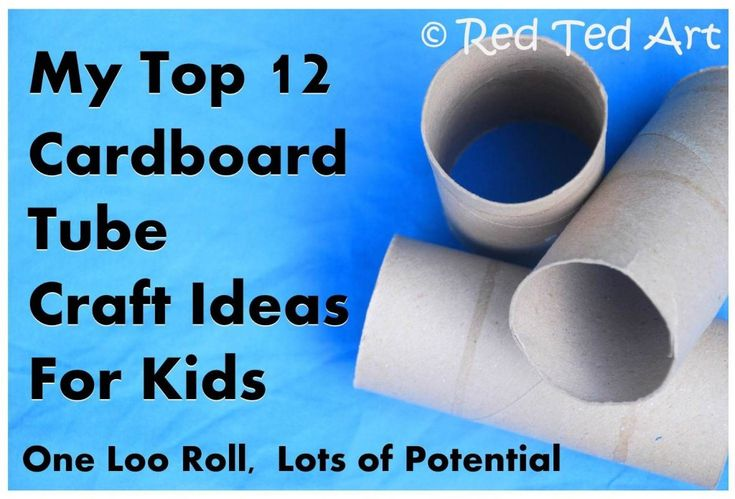 I LOVE crafting with cardboard tube, here is the top 12 TP Roll crafts from RedTedArt.com
