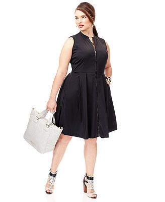 Plus Size Spring 2014 Trend Report Sporty Chic Flared Dress Look