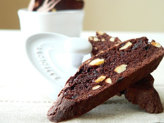 Chocolate Cherry Almond Biscotti by ZukrBoutique on Etsy, £3.00