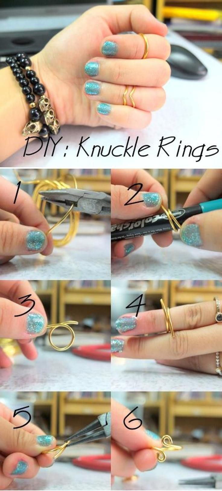 Knuckle Rings ---- Top 10 Best DIY Rings