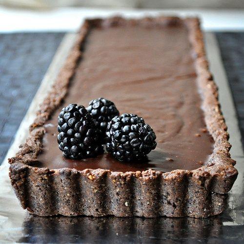 chocolate hazelnut tart | Recipes (Desserts) | Pinterest