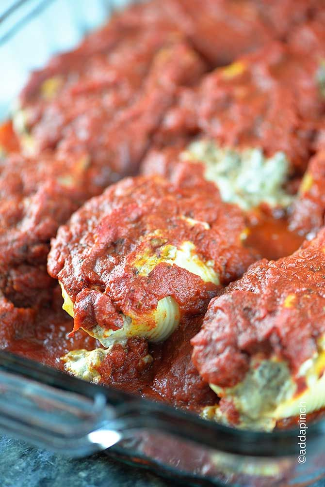 Stuffed shells makes a simple, delicious, and comforting recipe. Large ...