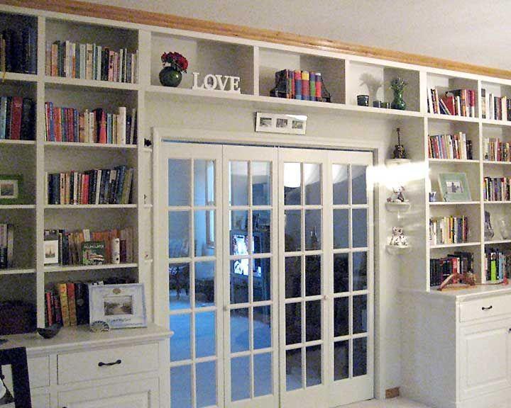 Beautiful Adding Built In Bookshelves Around Our Living Room Doorway