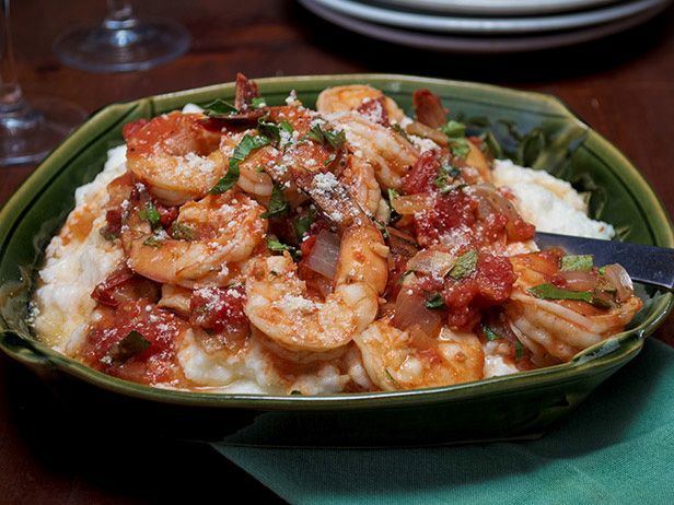 Low Country Shrimp and Grits with Stewed Tomatoes | Recipe