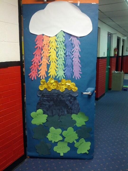 Classroom Door Decoration Ideas For March ~ March classroom door preschool theme pinterest