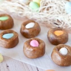 ... Peanut Butter Cookie Dough Bites. No-Bake, Vegan, GF, 10 mins to make