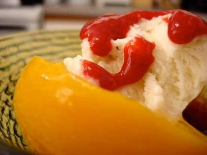 Peach melba! Can't wait to make this!