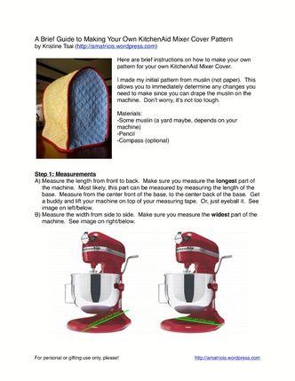 pattern for kitchenaid mixer