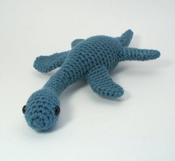 Crochet Dinosaur : Plesiosaurus amigurumi dinosaur PDF CROCHET PATTERN by PlanetJune, $5 ...