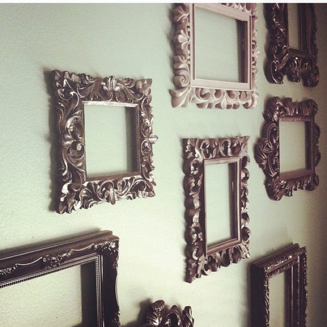 Empty frames wall art pinterest for What to do with empty picture frames
