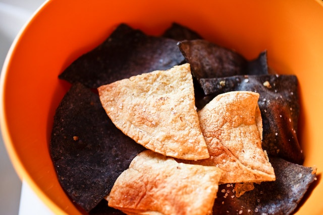 Homemade Tortilla Chips, looks so easy no need to buy them again