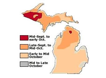 Michigan Fall Color Map  Michigan  Pinterest
