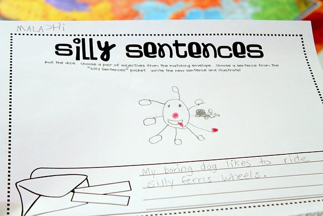 silly sentences homeschooling language arts pinterest. Black Bedroom Furniture Sets. Home Design Ideas