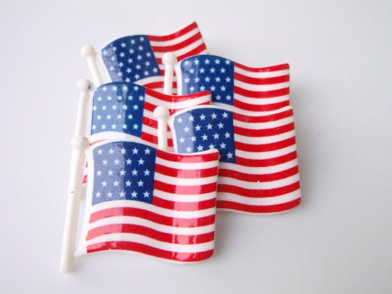 plastic american flags