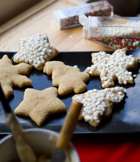 Vegan Sugar Cookies, Vanilla-Bean Frosted