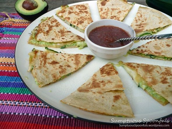 Zucchini Avocado Quesadilla | Healthy food ideas | Pinterest